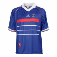 1998 France Home Classic Retro Blue Soccer Jersey Shirt