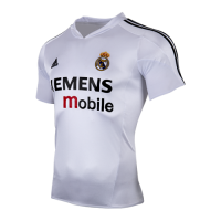 04-05 Real Madrid Classic Retro Home Soccer Jersey Shirt
