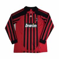 2008 AC Milan Retro Home Red&Black Long Sleeve Jerseys Shirt