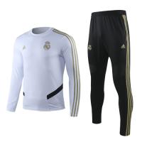 19-20 Real Madrid White Sweat Shirt Kit(Top+Trouser)