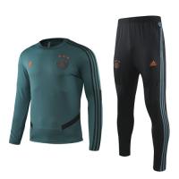19-20 Ajax Dark Green Sweat Shirt Kit(Top+Trouser)