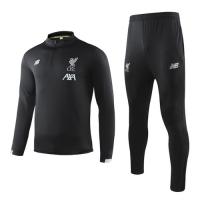 19-20 Liverpool Black Sweat Shirt Kit(Top+Trouser)