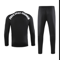 19-20 PSG Black Sweat Shirt Kit(Top+Trouser)