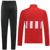 19-20 Atletico Madrid Red&White High Neck Collar Training Kit(Jacket+Trouser)