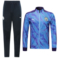 19/20 Manchester City Purple High Neck Collar Player Version Training Kit(Jacket+Trouser)