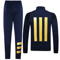 19/20 Real Madrid Navy High Neck Collar Player Version Training Kit(Jacket+Trouser)