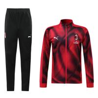 19-20 AC Milan Red High Neck Collar Player Version Training Kit(Jacket+Trouser)