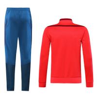 19/20 Bayern Munich Red&Dark Red High Neck Collar Training Kit(Jacket+Trouser)