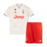 19-20 Juventus Away White Children's Jerseys Kit(Shirt+Short)