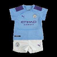 19/20 Manchester City Home Blue Children's Jerseys Kit(Shirt+Short)