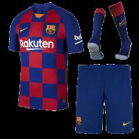 19/20 Barcelona Home Blue&Red Soccer Jerseys Kit(Shirt+Short+Socks)
