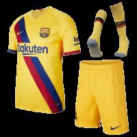 19/20 Barcelona Away Yellow Soccer Jerseys Kit(Shirt+Short+Socks)