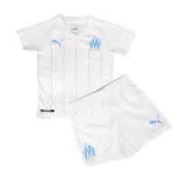 19/20 Marseilles Home White Children's Jerseys Kit(Shirt+Short)