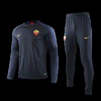 19/20 Roma Navy Zipper Sweat Shirt Kit(Top+Trouser)