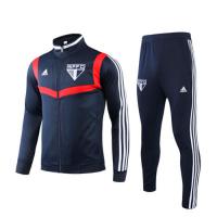 19/20 Sao Paulo Navy High Neck Collar Sweat Shirt Kit(Top+Trouser)