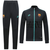 19/20 Barcelona Dark Gray High Neck Collar Training Kit(Jacket+Trouser)