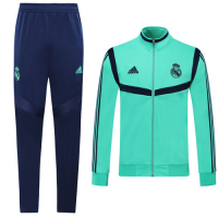 19/20 Real Madrid Green High Neck Collar Training Jacket