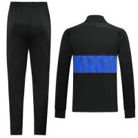 19/20 PSG Jordan Black&Blue High Neck Collar Training Kit(Jacket+Trouser)