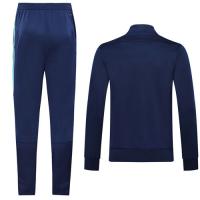 19/20 Real Madrid Blue High Neck Collar Training Kit(Jacket+Trouser)