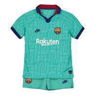 19/20 Barcelona Third Away Blue Children's Jerseys Kit(Shirt+Short)