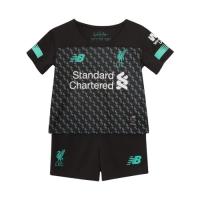 19-20 Liverpool Third Away Black&Blue Children's Jerseys Kit(Shirt+Short)