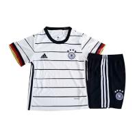 2020 Germany Home White Children's Jerseys Kit(Shirt+Short)