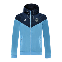 20/21 PSG Navy&Light Blue Hoodie Windrunner Jacket