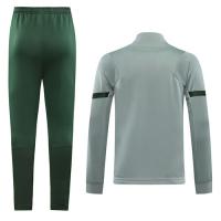 20/21 Atletico Madrid Light Gray High Neck Collar Training Kit(Jacket+Trouser)