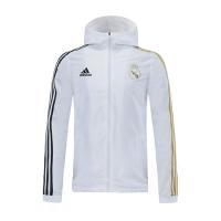 20/21 Real Madrid White Hoody Woven Windrunn