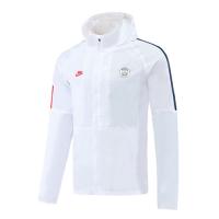 20/21 PSG White Hoodie Windrunner Jacket