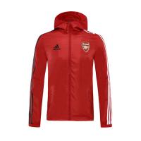 20/21 Arsenal Red Hoodie Windrunner Jacket