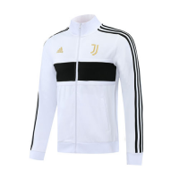 20/21 Juventus White High Neck Player Version Training Kit(Jacket+Trouser)