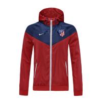 20/21 Atletico Madrid Red&Blue Hoodie Windrunner Jacket