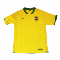 2006 Brazil Home Yellow Retro Jerseys Shirt