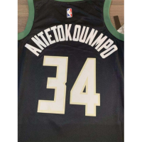 Men's Milwaukee Bucks Giannis Antetokounmpo N0.34  Black SwingmanJersey