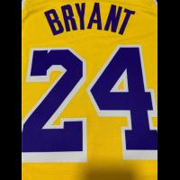 Men's Los Angeles Lakers Kobe Bryant N0.24 Yellow SwingmanJersey