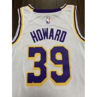 Men's Los Angeles Lakers Dwight Howard No.39 White Swingman Jersey - Association Edition