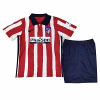 20/21 Atletico Madrid Home Red&White Children's Jerseys Kit(Shirt+Short)