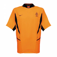 2002 Netherlands Retro Home Orange Soccer Jerseys Shirt