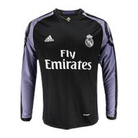 15/16 Real Madrid Third Away Black&Purple Long Sleeve Retro Jerseys Shirt
