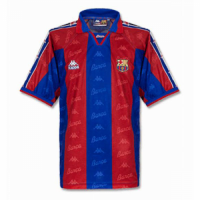 96/97 Barcelona Home Red&Blue Retro Soccer Jerseys Shirt