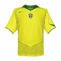 2004 Brazil Home Yellow Retro Jerseys Shirt