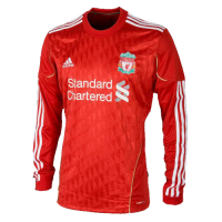 11/12 Liverpool Home Red Retro Long Sleeve Jerseys Shirt