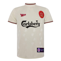 96/97 Liverpool Away White Retro Soccer Jerseys Shirt