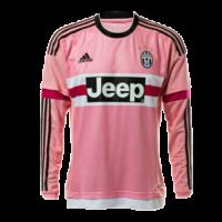 15/16 Juventus Away Pink Soccer Long Sleeve Retro Jerseys Shirt