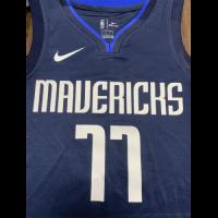 Men's Dallas Mavericks Luka Doncic No.77 Navy Finished Swingman Jersey - Statement