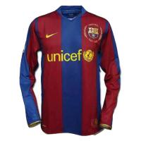 07-08 Barcelona Home 50-Yeas Anniversary Long Sleeve Jersey Shirt