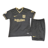 20/21 Barcelona Away Black Children's Jerseys Kit(Shirt+Short)