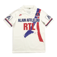 90/92 PSG Home White Retro Soccer Jerseys Shirt