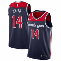 Men's Washington Wizards Ish Smith No.14 Nike Navy Swingman Jersey
